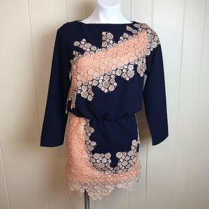 Dresses & Skirts - Tanghenye Long Sleeve Lace Accent Party Dress